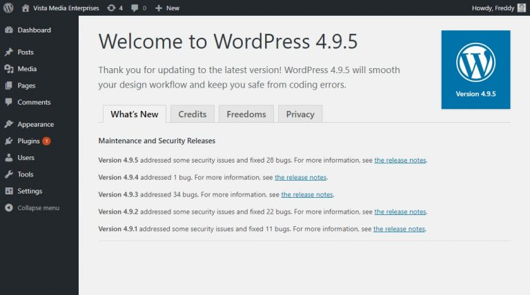 Cara update WordPress