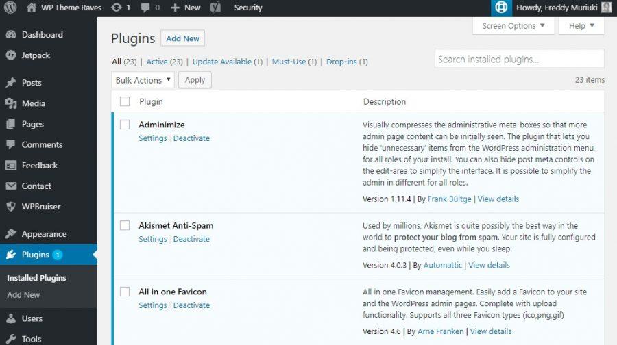 Matikan plugin untuk mengatasi WordPress HTTP error