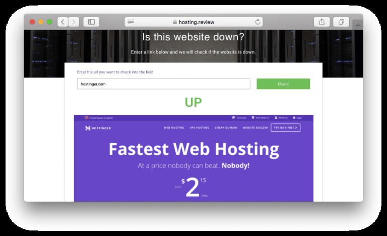 Mengecek apakah website down karena error 504 dengan menggunakan tool online