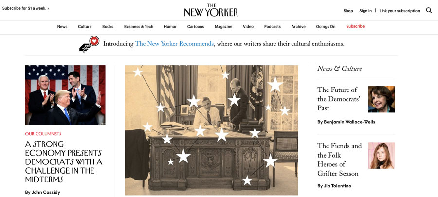 The New Yorker membuat majalah online di WordPress