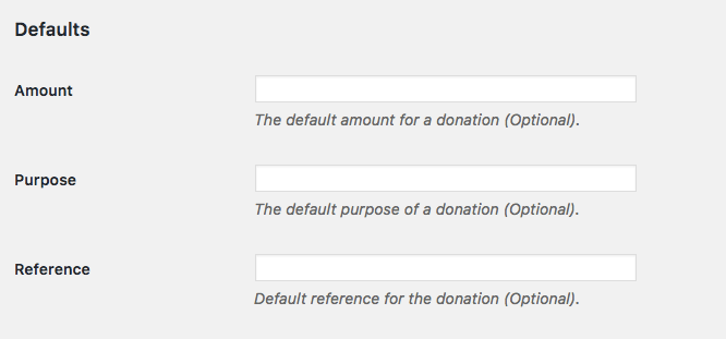 PayPal Donations Default