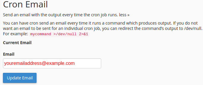 Cron Email