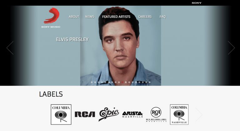 Sony Music membuat website resminya di WordPress
