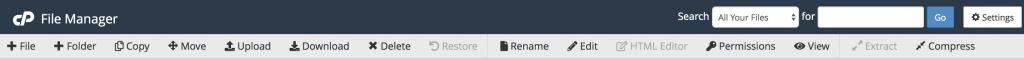 Toolbar File Management