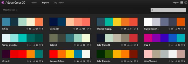 Belajar web developer dengan Adobe Color
