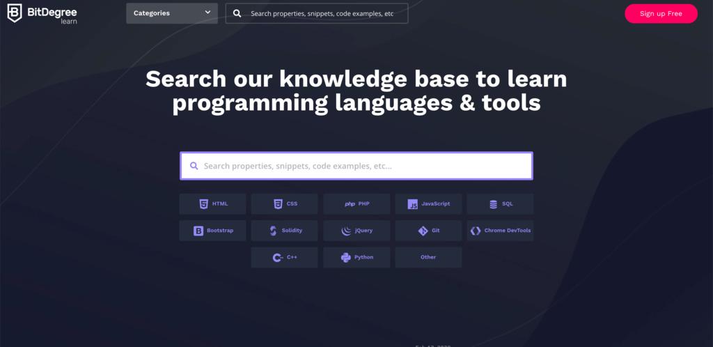 BitDegree untuk belajar coding