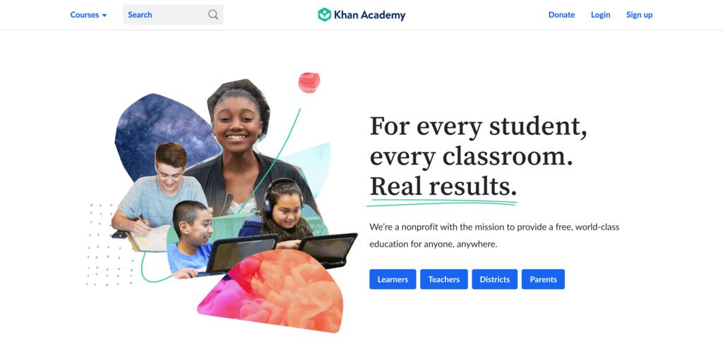 Halaman Khan Academy untuk belajar coding