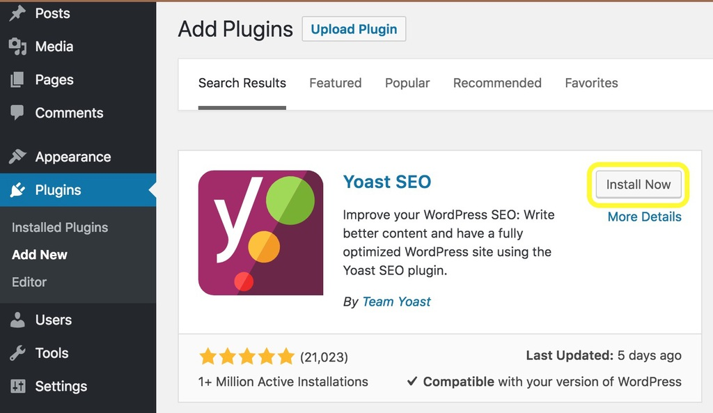 Plugin Yoast SEO di WordPress