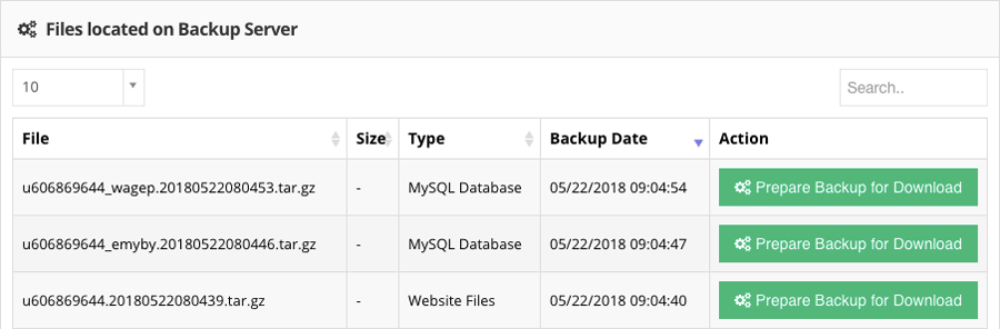 Backup file website dan MySQL di Hostinger