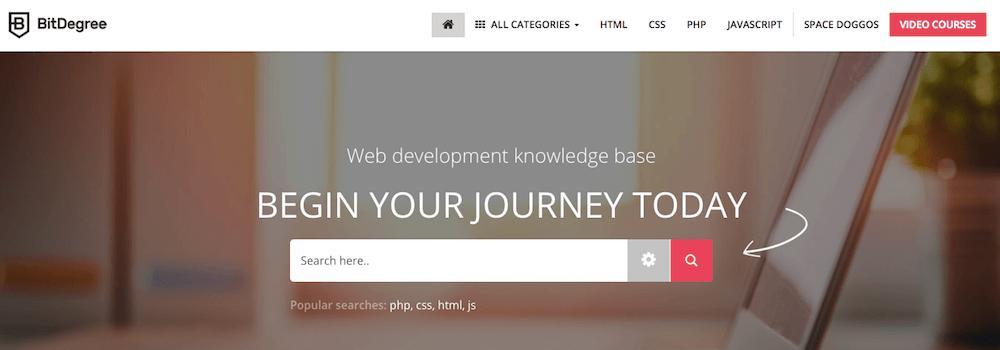 Belajar coding di BitDegree