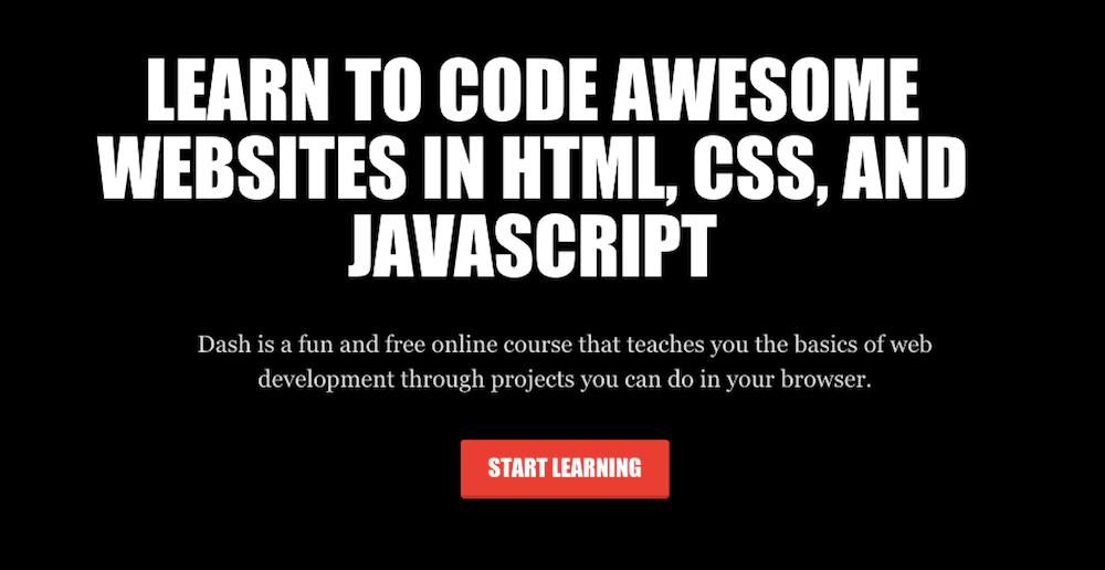 Website belajar coding - Dash