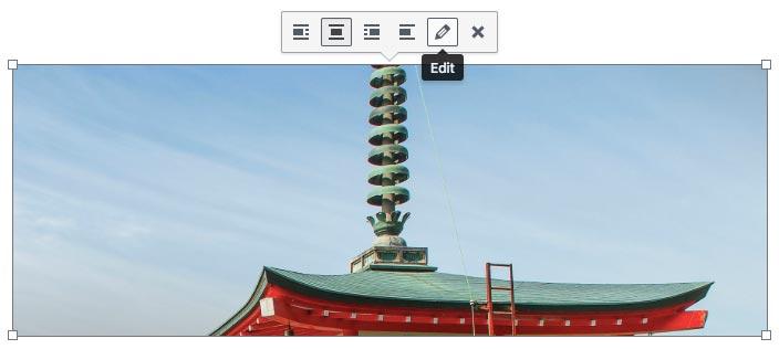 Mengedit gambar di WordPress
