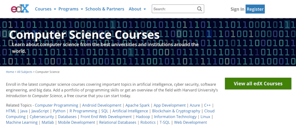 Situs belajar coding - edX Coding
