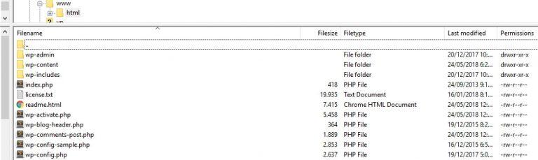 Folder WWW