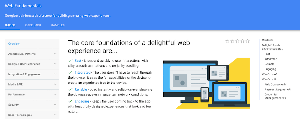 Web Fundamentals by Google