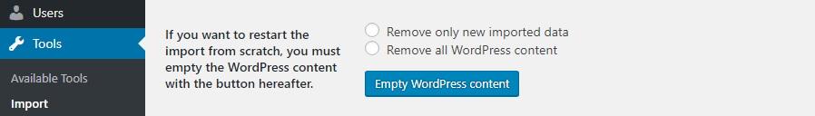 Menghapus konten WordPress