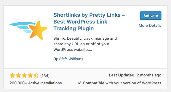 Menginstall Plugin Pretty Links