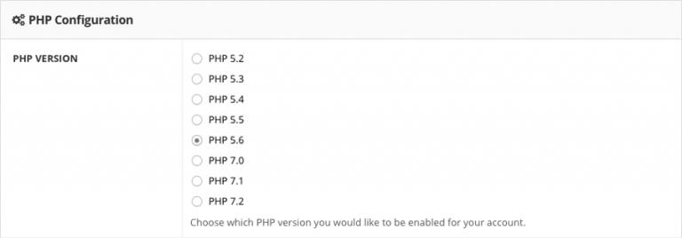 Mengubah versi PHP