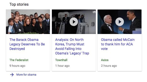 Schema untuk hasil pencarian Obama