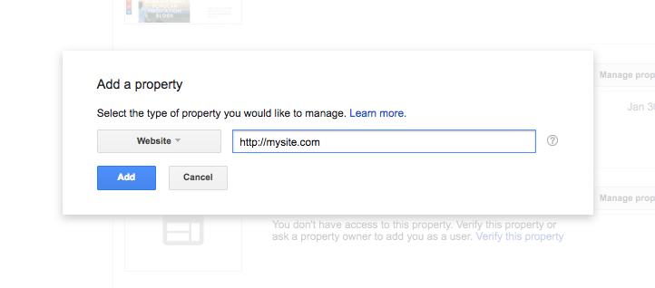 MEnambahkan situs ke Google Search Console