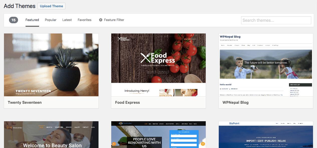 Mengubah tema WordPress