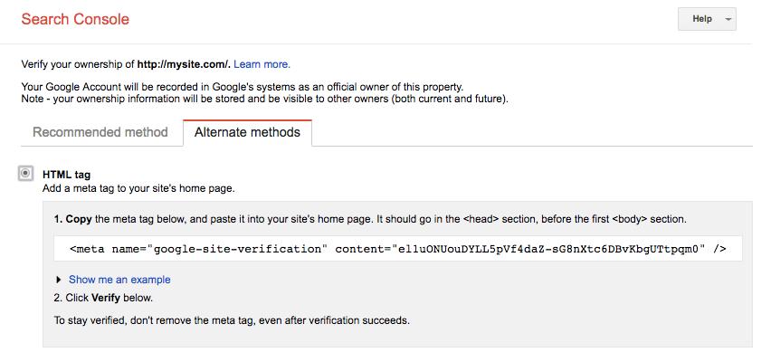 Verifikasi Google Search Console