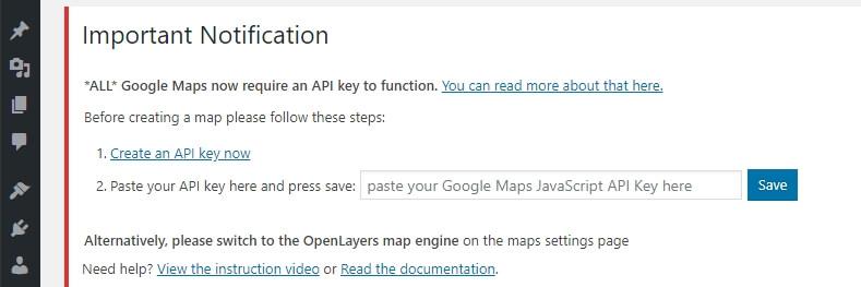 Membuat API key