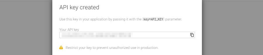 Contoh API key