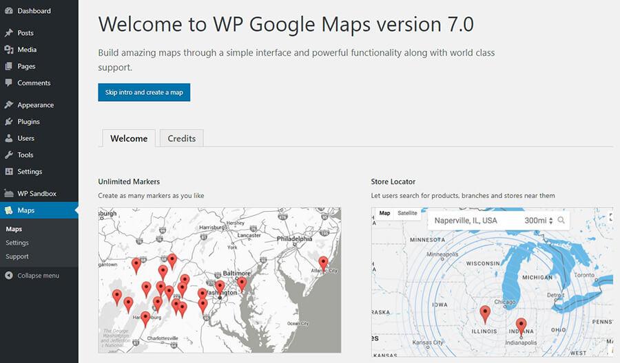 Halaman intro maps