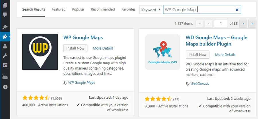 Menginstall WP Google Maps