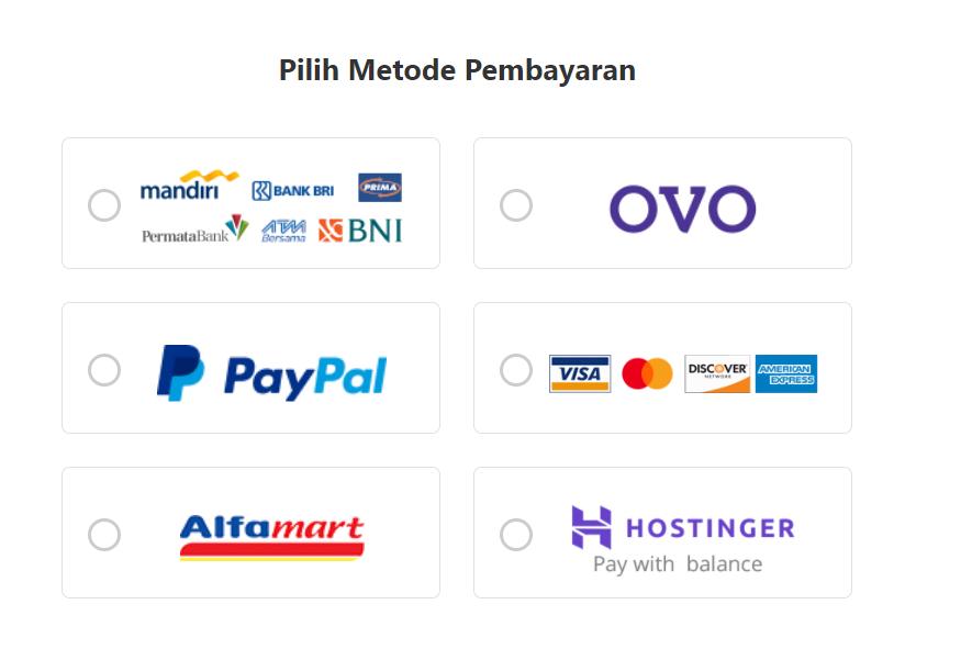 Metode pembayaran domain