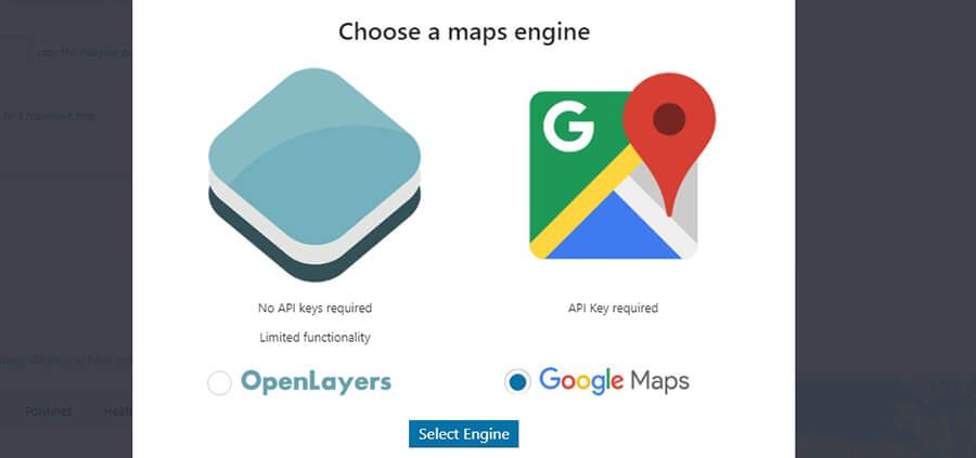 Pilih tool maps