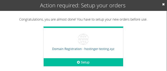 Setup nama domain