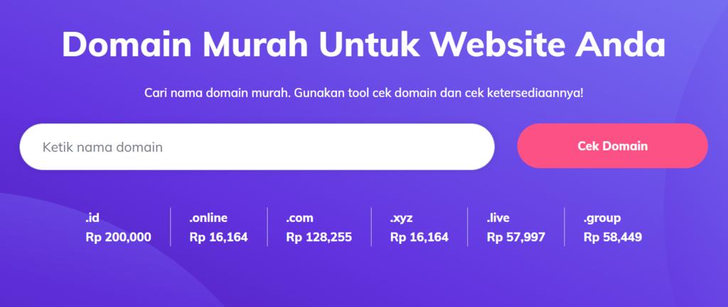 Cara membeli domain - cek ketersediaannya