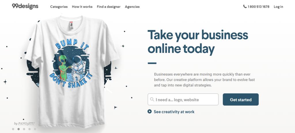 Cara mendapatkan uang dari internet dengan jadi desainer grafis di 99designs
