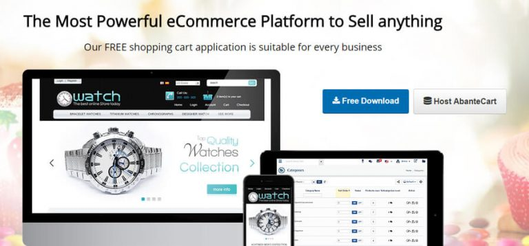 CMS ecommerce - AbanteCart