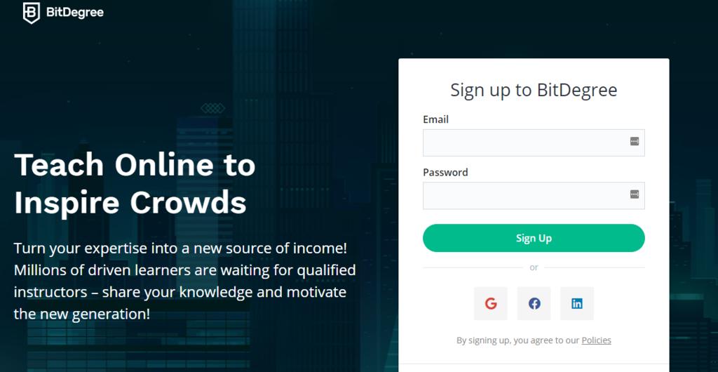 Cara mendapatkan uang dari internet: belajar jadi tutor/instruktur di bitdegree