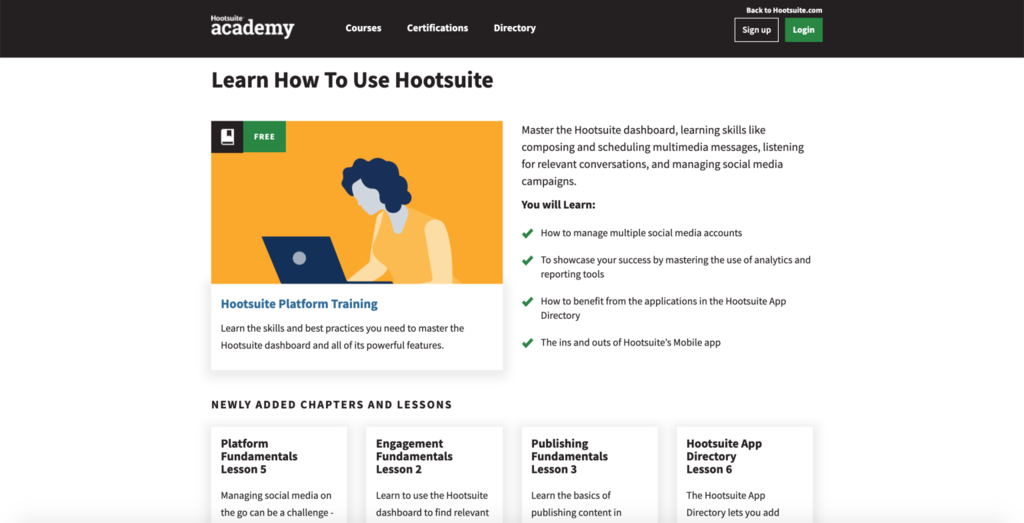 Hootsuite academy