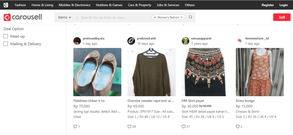 Menghasilkan uang dari internet dengan jual baju preloved