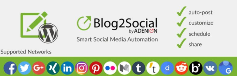 Blog2Social adalah salah satu plugin sosial media di WordPress