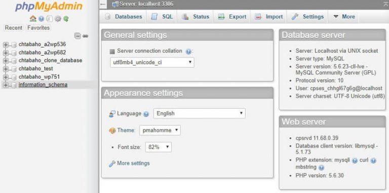 Daftar database