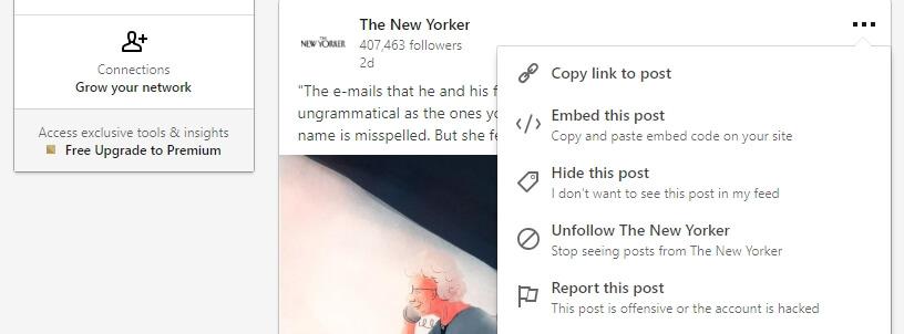 Embed This Post di LinkedIn