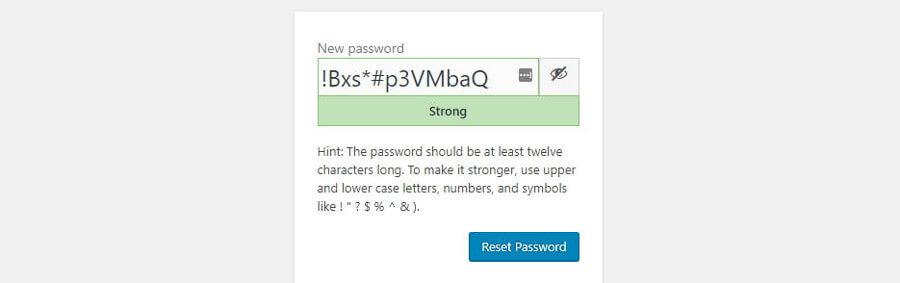 Opsi password baru
