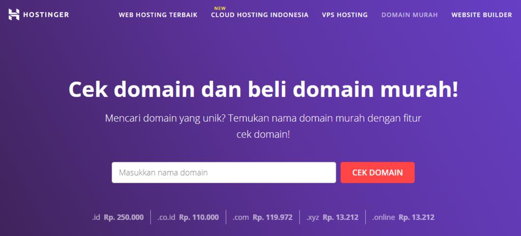 Cara membuat blog travel - register domain terlebih dulu