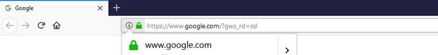 Cara memasang SSL - simbol gembok hijau di kolom browser