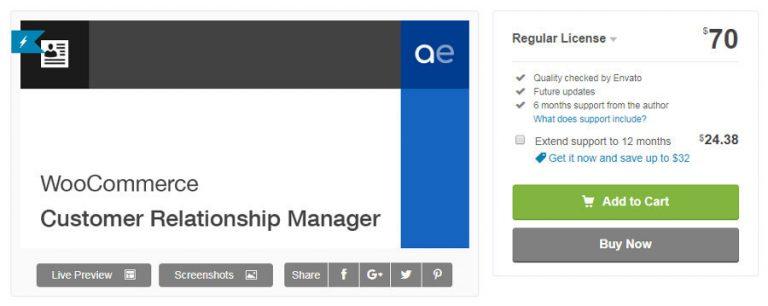 Plugin CRM untuk bisnis - WooCommerce Customer Relationship Manager