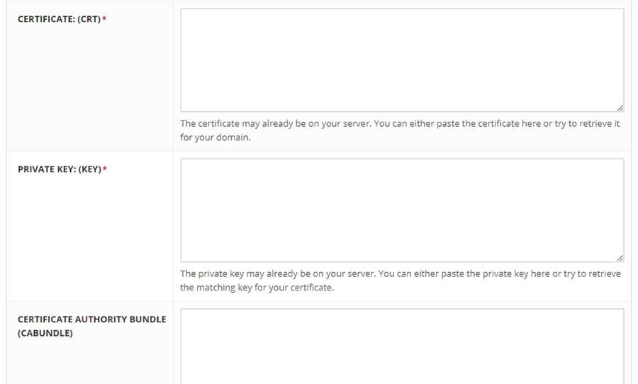 certificate private key