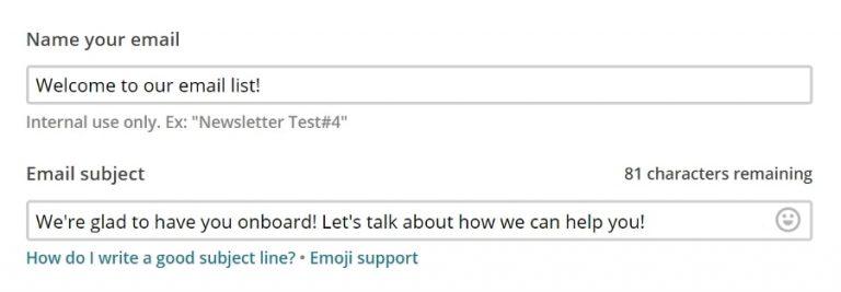 Contoh email selamat datang