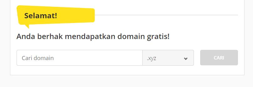 Cara mendapatkan domain gratis dengan membeli web hosting tahunan