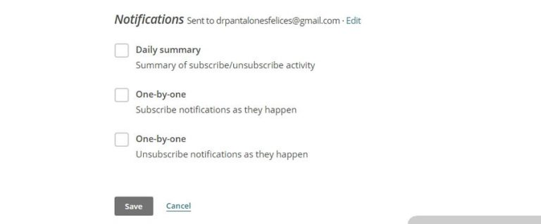 Notifikasi Subscription